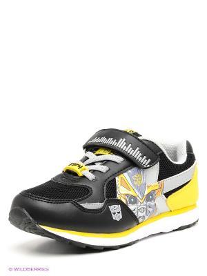 Кроссовки Kakadu. Цвет: черный, серый, желтый