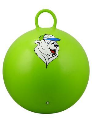 Мяч-попрыгун STARFIT GB-403 65 см Медвеженок, с ручкой, зеленый 1/10. Цвет: зеленый