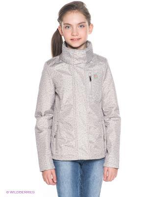 Куртка Orby. Цвет: серый, молочный