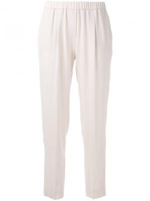 Зауженные спортивные брюки Fabiana Filippi. Цвет: розовый и фиолетовый
