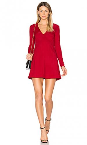 Платье noah NBD. Цвет: красный