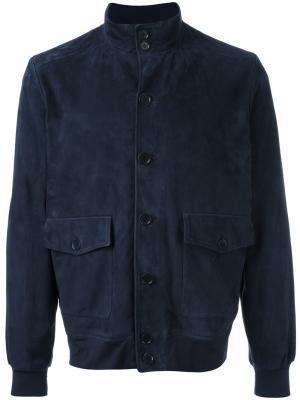 Куртка на пуговицах Cruciani. Цвет: синий