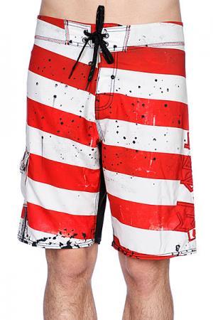 Пляжные мужские шорты  Morello 21 Boardshort Red Globe. Цвет: белый,красный