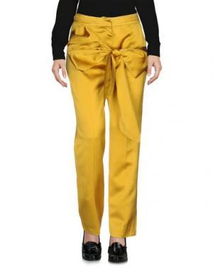 Повседневные брюки MARIA LUCIA HOHAN. Цвет: охра