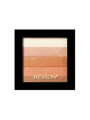 Палетка хайлайтеров для лица Highlighting Palette, Bronze glow 030 Revlon. Цвет: бежевый