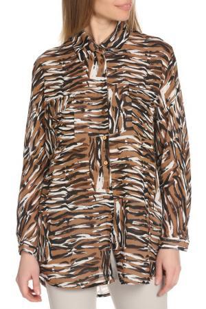 Рубашка BGN. Цвет: brown