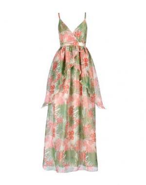 Длинное платье MANOUSH. Цвет: зеленый