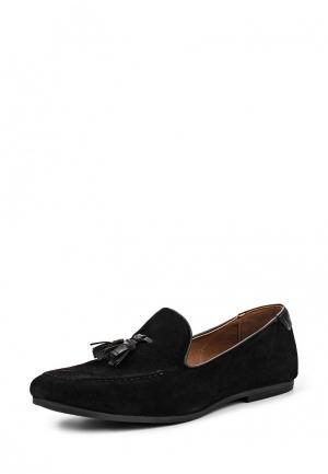 Лоферы Burton Menswear London. Цвет: черный