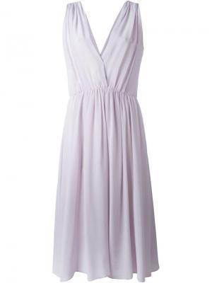 Платье c V-образным вырезом Forte. Цвет: розовый и фиолетовый