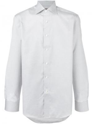 Рубашка в клетку Canali. Цвет: белый