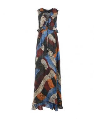 Длинное платье JUST CAVALLI. Цвет: пастельно-синий