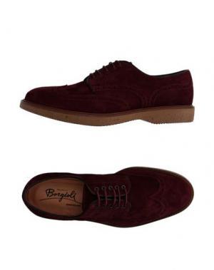 Обувь на шнурках BORGIOLI. Цвет: красно-коричневый