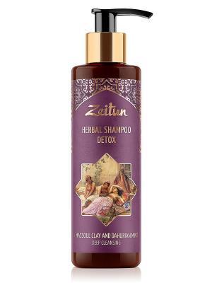 Детокс фито-шампунь без SLS для глубокого очищения кожи головы. С глиной гассул и даурской мятой Зейтун. Цвет: кремовый