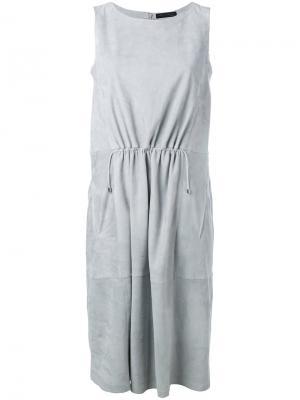 Присборенное спереди платье Fabiana Filippi. Цвет: серый