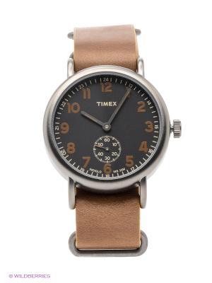 Часы TIMEX. Цвет: темно-серый, коричневый