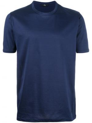 Plain T-shirt Fay. Цвет: синий