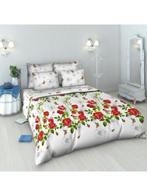 Комплект постельного белья из бязи 1,5 спальный Василиса. Цвет: белый