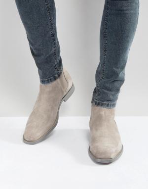 ALDO Серые замшевые ботинки челси Vianello. Цвет: серый