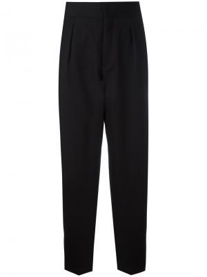 Зауженные брюки с расклешенным низом Saint Laurent. Цвет: чёрный