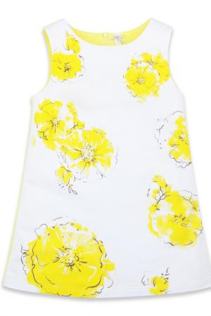 Платье Silver Spoon Casual. Цвет: желтый
