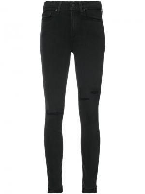 Distressed skinny jeans Paige. Цвет: чёрный