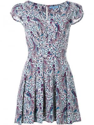 Платье  с принтом пейсли Guild Prime. Цвет: розовый и фиолетовый