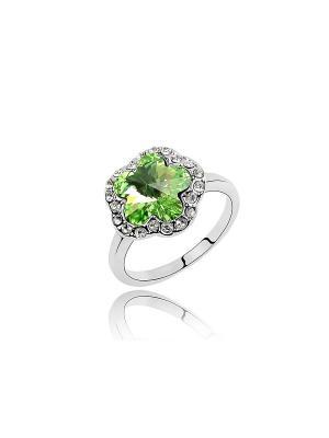 Кольцо Lucky Line. Цвет: зеленый