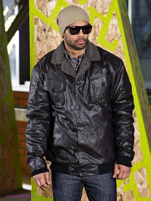 Куртка Orisue. Цвет: черный, темно-коричневый