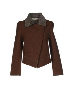 Куртка LA FABRIQUE. Цвет: коричневый