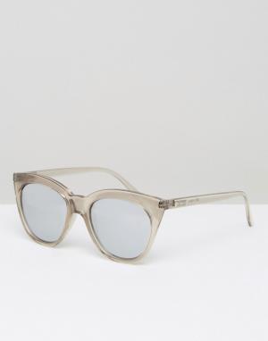 Le Specs Серебристые зеркальные солнцезащитные очки Magin. Цвет: очистить