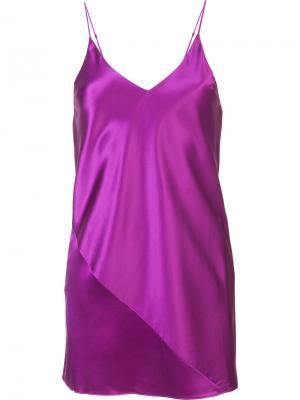 Короткая комбинация Fleur Du Mal. Цвет: розовый и фиолетовый