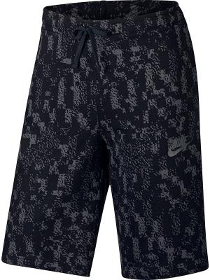 Шорты M NSW SHORT JSY CLUB GFX Nike. Цвет: черный, белый
