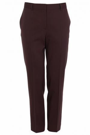 Укороченные брюки с карманами Alberta Ferretti. Цвет: коричневый
