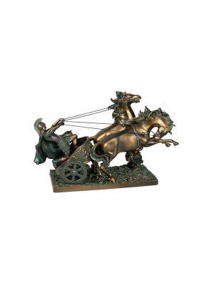 Статуэтка Римская колесница Русские подарки. Цвет: бронзовый