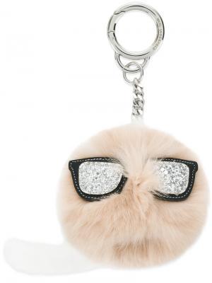 Брелок для ключей K/Ikonik Karl Lagerfeld. Цвет: белый