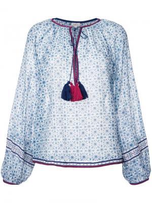 Блузка с узором Talitha. Цвет: синий