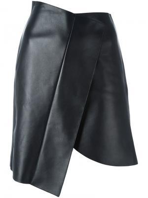 Асимметричная юбка David Koma. Цвет: чёрный
