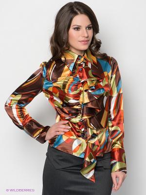 Блузка МадаМ Т. Цвет: коричневый