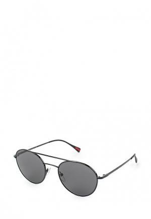 Очки солнцезащитные Prada Linea Rossa. Цвет: черный