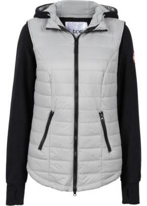 Жилетка с интегрированной флисовой курткой (серый) bonprix. Цвет: серый