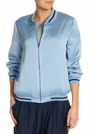 Куртка-бомбер BGN. Цвет: синий