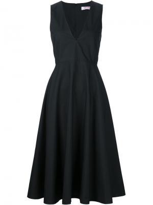 Платье с V-образным вырезом Organic By John Patrick. Цвет: чёрный