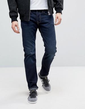 Edwin Темные суженные книзу джинсы ED-55. Цвет: синий