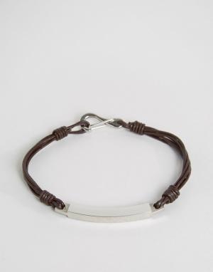 Seven London Коричневый браслет-шнурок. Цвет: коричневый