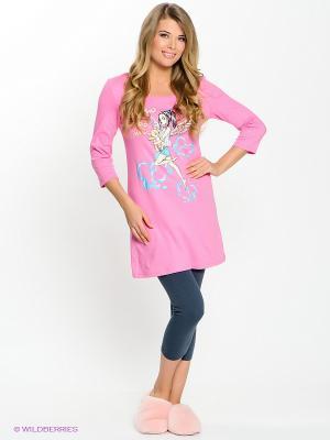 Пижама PELICAN. Цвет: розовый, темно-серый