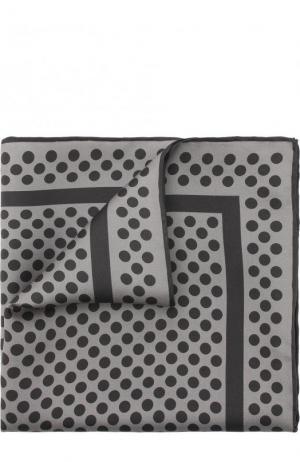 Шелковый платок с узором Tom Ford. Цвет: серый