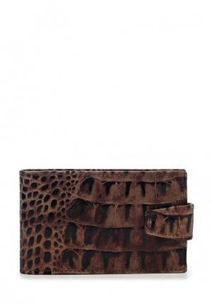 Визитница Franchesco Mariscotti. Цвет: коричневый