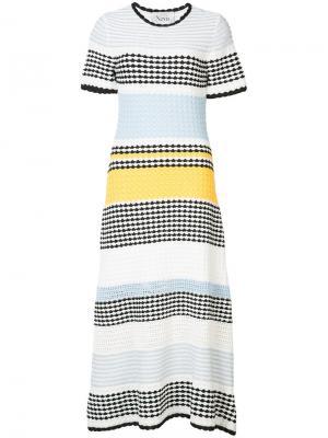 Платье-миди в полоску Novis. Цвет: синий