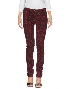 Джинсовые брюки ALYSI. Цвет: красно-коричневый