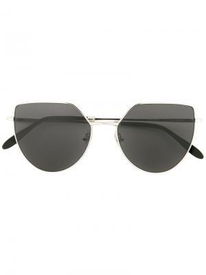 Солнцезащитные очки в оправе кошачий глаз Spektre. Цвет: чёрный